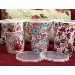 Shabby chic plastic vase