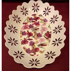 Oval Shabby Tray - Flower