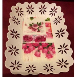 Shabby Flower Rectangle Tray